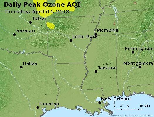 Peak Ozone (8-hour) - http://files.airnowtech.org/airnow/2013/20130404/peak_o3_ar_la_ms.jpg