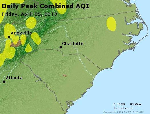 Peak AQI - http://files.airnowtech.org/airnow/2013/20130405/peak_aqi_nc_sc.jpg