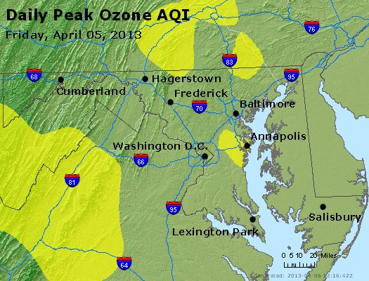 Peak Ozone (8-hour) - http://files.airnowtech.org/airnow/2013/20130405/peak_o3_maryland.jpg