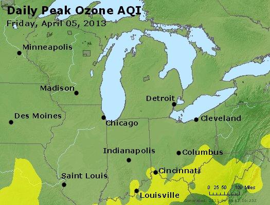 Peak Ozone (8-hour) - http://files.airnowtech.org/airnow/2013/20130405/peak_o3_mi_in_oh.jpg