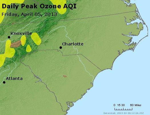 Peak Ozone (8-hour) - http://files.airnowtech.org/airnow/2013/20130405/peak_o3_nc_sc.jpg