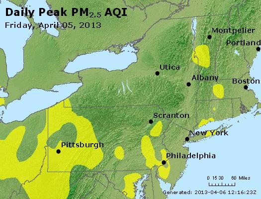 Peak Particles PM<sub>2.5</sub> (24-hour) - http://files.airnowtech.org/airnow/2013/20130405/peak_pm25_ny_pa_nj.jpg