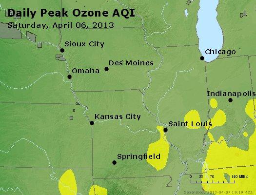 Peak Ozone (8-hour) - http://files.airnowtech.org/airnow/2013/20130406/peak_o3_ia_il_mo.jpg