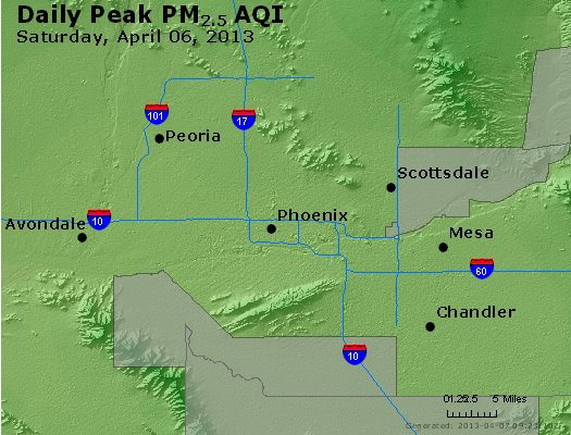 Peak Particles PM<sub>2.5</sub> (24-hour) - http://files.airnowtech.org/airnow/2013/20130406/peak_pm25_phoenix_az.jpg