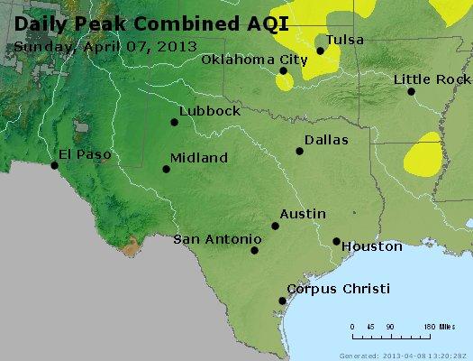Peak AQI - http://files.airnowtech.org/airnow/2013/20130407/peak_aqi_tx_ok.jpg