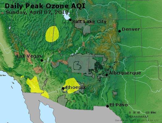 Peak Ozone (8-hour) - http://files.airnowtech.org/airnow/2013/20130407/peak_o3_co_ut_az_nm.jpg