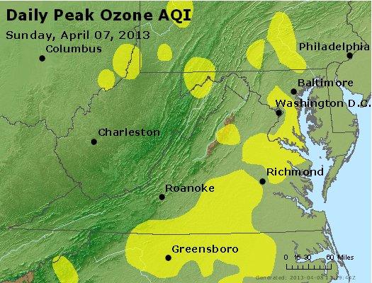 Peak Ozone (8-hour) - http://files.airnowtech.org/airnow/2013/20130407/peak_o3_va_wv_md_de_dc.jpg
