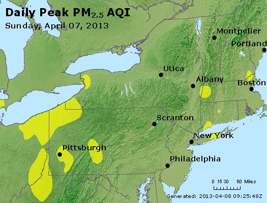 Peak Particles PM<sub>2.5</sub> (24-hour) - http://files.airnowtech.org/airnow/2013/20130407/peak_pm25_ny_pa_nj.jpg