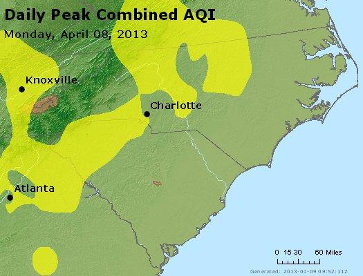 Peak AQI - http://files.airnowtech.org/airnow/2013/20130408/peak_aqi_nc_sc.jpg