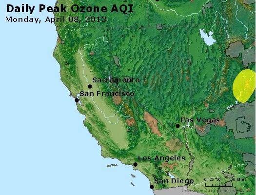 Peak Ozone (8-hour) - http://files.airnowtech.org/airnow/2013/20130408/peak_o3_ca_nv.jpg