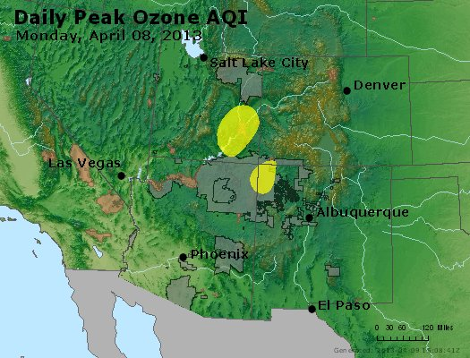 Peak Ozone (8-hour) - http://files.airnowtech.org/airnow/2013/20130408/peak_o3_co_ut_az_nm.jpg