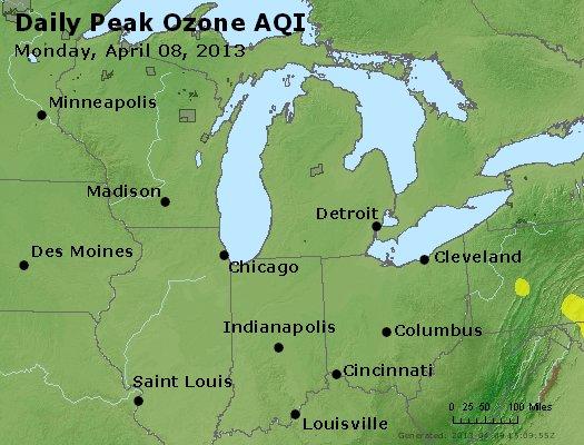 Peak Ozone (8-hour) - http://files.airnowtech.org/airnow/2013/20130408/peak_o3_mi_in_oh.jpg