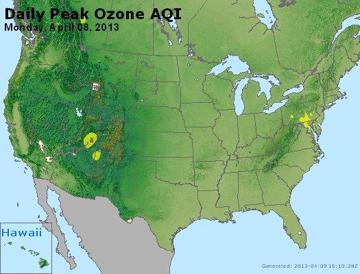 Peak Ozone (8-hour) - http://files.airnowtech.org/airnow/2013/20130408/peak_o3_usa.jpg