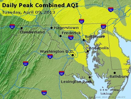 Peak AQI - http://files.airnowtech.org/airnow/2013/20130409/peak_aqi_maryland.jpg