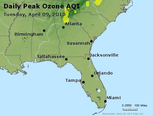 Peak Ozone (8-hour) - http://files.airnowtech.org/airnow/2013/20130409/peak_o3_al_ga_fl.jpg