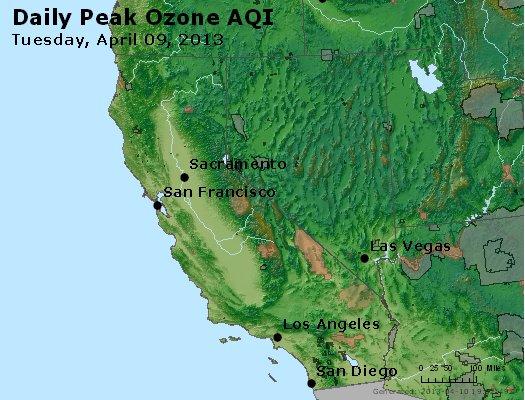 Peak Ozone (8-hour) - http://files.airnowtech.org/airnow/2013/20130409/peak_o3_ca_nv.jpg