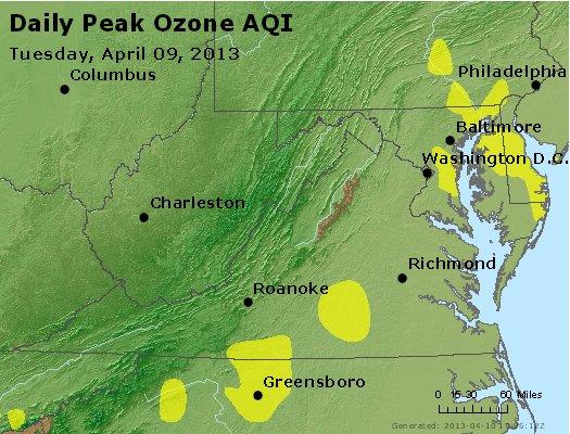 Peak Ozone (8-hour) - http://files.airnowtech.org/airnow/2013/20130409/peak_o3_va_wv_md_de_dc.jpg