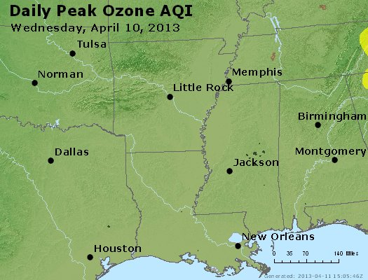 Peak Ozone (8-hour) - http://files.airnowtech.org/airnow/2013/20130410/peak_o3_ar_la_ms.jpg