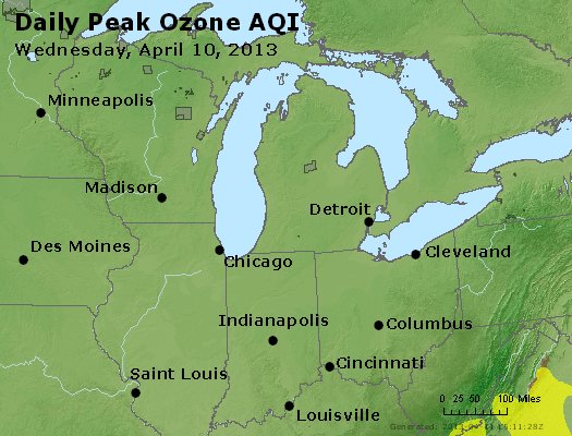 Peak Ozone (8-hour) - http://files.airnowtech.org/airnow/2013/20130410/peak_o3_mi_in_oh.jpg