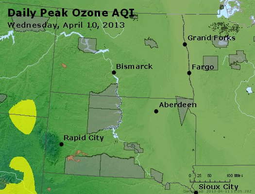 Peak Ozone (8-hour) - http://files.airnowtech.org/airnow/2013/20130410/peak_o3_nd_sd.jpg