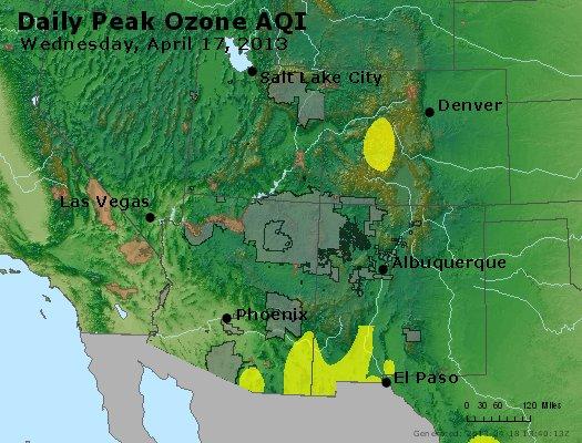 Peak Ozone (8-hour) - http://files.airnowtech.org/airnow/2013/20130417/peak_o3_co_ut_az_nm.jpg