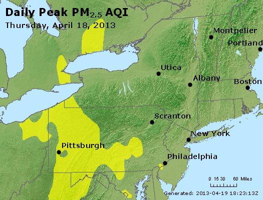Peak Particles PM<sub>2.5</sub> (24-hour) - http://files.airnowtech.org/airnow/2013/20130418/peak_pm25_ny_pa_nj.jpg