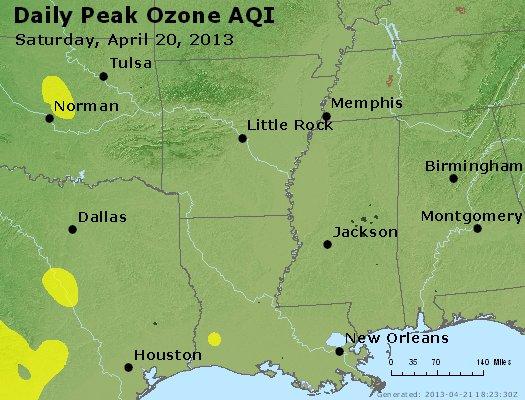 Peak Ozone (8-hour) - http://files.airnowtech.org/airnow/2013/20130420/peak_o3_ar_la_ms.jpg
