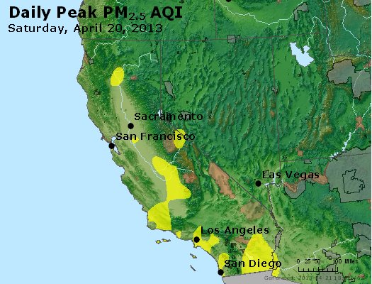 Peak Particles PM<sub>2.5</sub> (24-hour) - http://files.airnowtech.org/airnow/2013/20130420/peak_pm25_ca_nv.jpg
