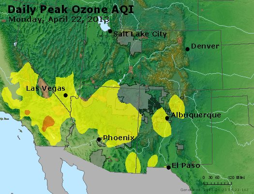 Peak Ozone (8-hour) - http://files.airnowtech.org/airnow/2013/20130422/peak_o3_co_ut_az_nm.jpg