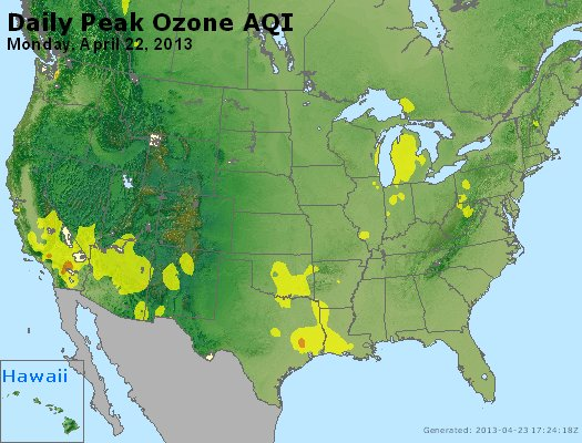 Peak Ozone (8-hour) - http://files.airnowtech.org/airnow/2013/20130422/peak_o3_usa.jpg