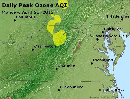 Peak Ozone (8-hour) - http://files.airnowtech.org/airnow/2013/20130422/peak_o3_va_wv_md_de_dc.jpg