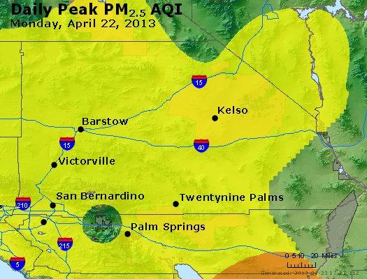 Peak Particles PM<sub>2.5</sub> (24-hour) - http://files.airnowtech.org/airnow/2013/20130422/peak_pm25_sanbernardino_ca.jpg