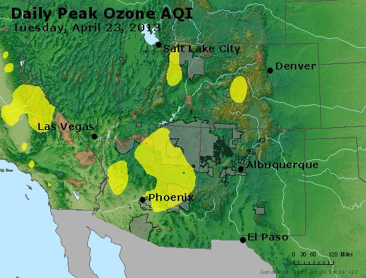 Peak Ozone (8-hour) - http://files.airnowtech.org/airnow/2013/20130423/peak_o3_co_ut_az_nm.jpg