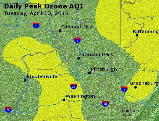 Peak Ozone (8-hour) - http://files.airnowtech.org/airnow/2013/20130423/peak_o3_pittsburgh_pa.jpg
