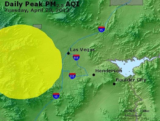 Peak Particles PM<sub>2.5</sub> (24-hour) - http://files.airnowtech.org/airnow/2013/20130423/peak_pm25_lasvegas_nv.jpg