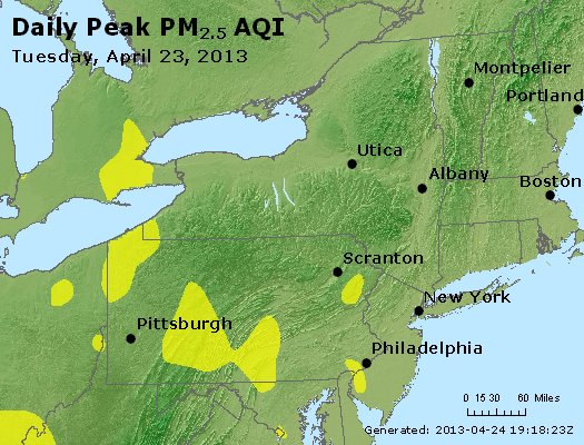 Peak Particles PM<sub>2.5</sub> (24-hour) - http://files.airnowtech.org/airnow/2013/20130423/peak_pm25_ny_pa_nj.jpg