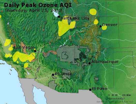 Peak Ozone (8-hour) - http://files.airnowtech.org/airnow/2013/20130425/peak_o3_co_ut_az_nm.jpg