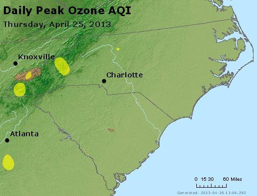 Peak Ozone (8-hour) - http://files.airnowtech.org/airnow/2013/20130425/peak_o3_nc_sc.jpg