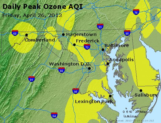 Peak Ozone (8-hour) - http://files.airnowtech.org/airnow/2013/20130426/peak_o3_maryland.jpg
