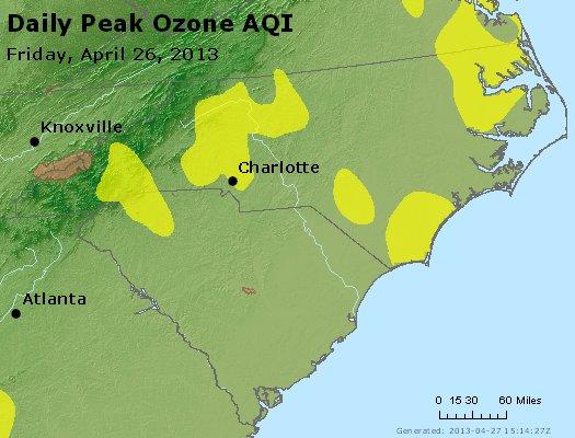 Peak Ozone (8-hour) - http://files.airnowtech.org/airnow/2013/20130426/peak_o3_nc_sc.jpg