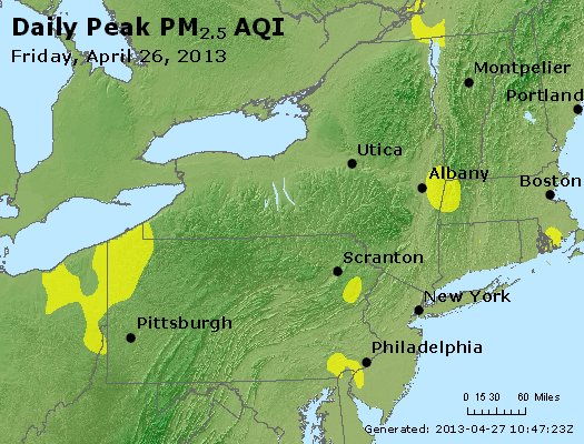 Peak Particles PM<sub>2.5</sub> (24-hour) - http://files.airnowtech.org/airnow/2013/20130426/peak_pm25_ny_pa_nj.jpg