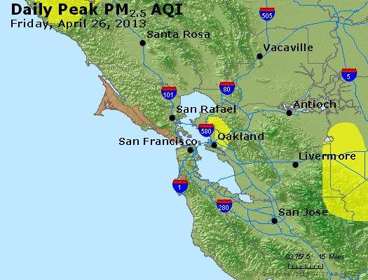 Peak Particles PM<sub>2.5</sub> (24-hour) - http://files.airnowtech.org/airnow/2013/20130426/peak_pm25_sanfrancisco_ca.jpg
