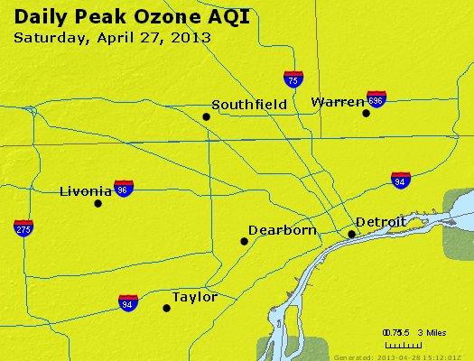 Peak Ozone (8-hour) - http://files.airnowtech.org/airnow/2013/20130427/peak_o3_detroit_mi.jpg