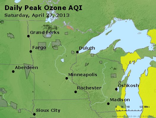 Peak Ozone (8-hour) - http://files.airnowtech.org/airnow/2013/20130427/peak_o3_mn_wi.jpg