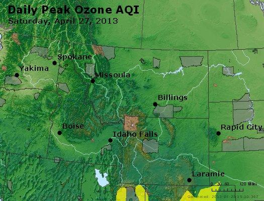Peak Ozone (8-hour) - http://files.airnowtech.org/airnow/2013/20130427/peak_o3_mt_id_wy.jpg