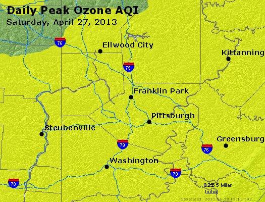 Peak Ozone (8-hour) - http://files.airnowtech.org/airnow/2013/20130427/peak_o3_pittsburgh_pa.jpg