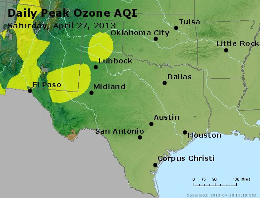 Peak Ozone (8-hour) - http://files.airnowtech.org/airnow/2013/20130427/peak_o3_tx_ok.jpg