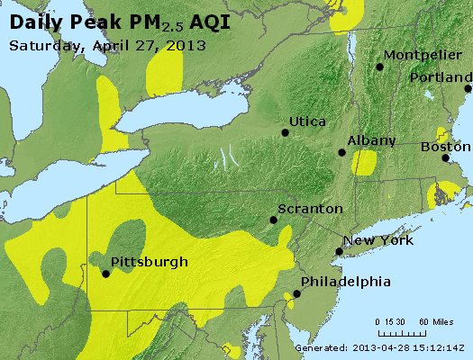 Peak Particles PM<sub>2.5</sub> (24-hour) - http://files.airnowtech.org/airnow/2013/20130427/peak_pm25_ny_pa_nj.jpg