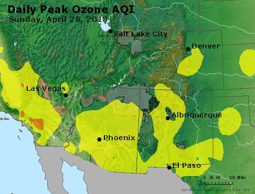Peak Ozone (8-hour) - http://files.airnowtech.org/airnow/2013/20130428/peak_o3_co_ut_az_nm.jpg