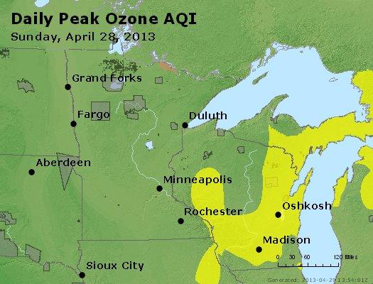 Peak Ozone (8-hour) - http://files.airnowtech.org/airnow/2013/20130428/peak_o3_mn_wi.jpg